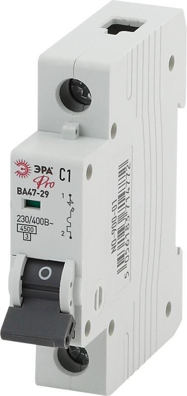 Выключатель автоматический модульный 1п C 6А ВА47-29 Pro NO-900-08 ЭРА Б0031743