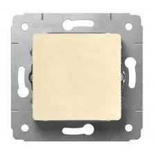 Механизм выключателя 1-кл. СП Cariva 10А IP20 250В авт. клеммы сл. кость Leg 773756
