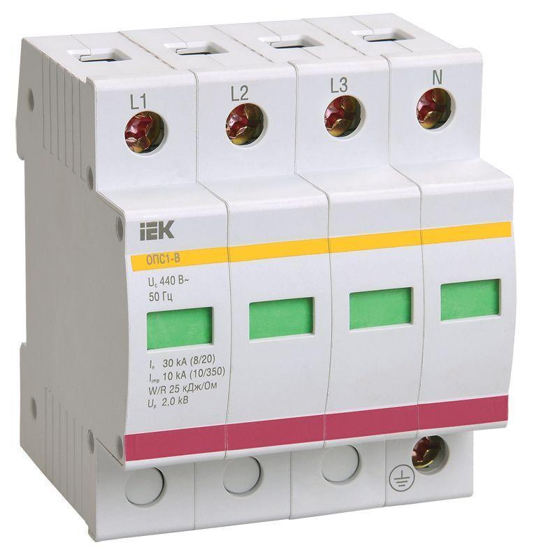 Ограничитель перенапряжения ОПС1-B 4P IEK MOP20-4-B