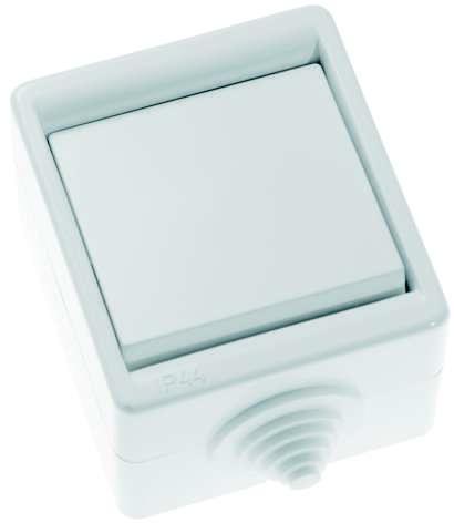 Выключатель 1-кл. ОП 10А IP44 А110-015 бел. Кунцево 5904