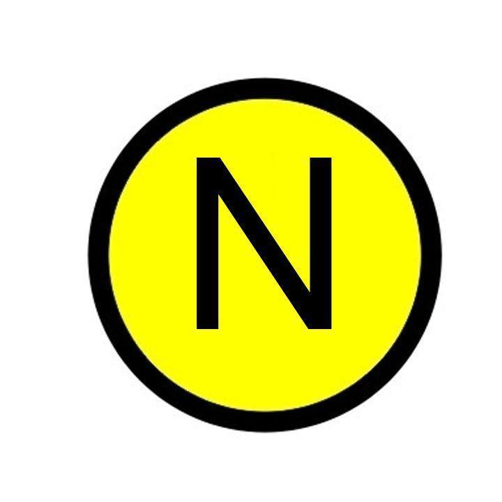 Наклейка N; d20мм EKF an-2-07