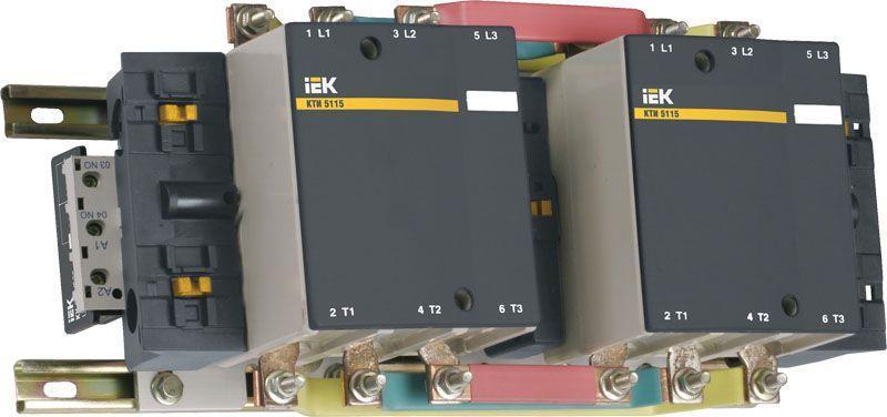 Контактор КТИ-51153 реверс 115А 400В/АС3 IEK KKT53-115-400-10