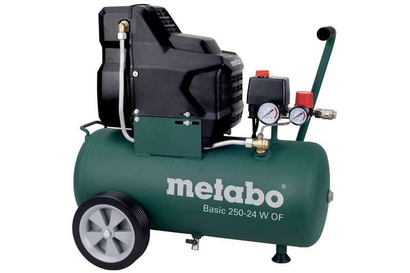 Компрессор безмасляный Basic 250-24 W OF 1.5кВт 24л Metabo 601532000