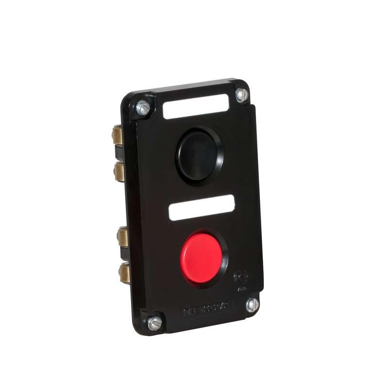 Пост кнопочный ПКЕ-122/2 Пуск-Стоп; 1 черн. 1 красн. Электродеталь ПКЕ-122/2.1Ч.1К