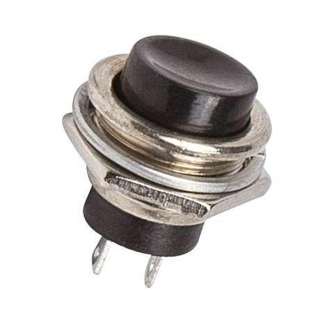 Выключатель-кнопка металл 220В 2А (2с) (ON)-OFF d16.2 черн. (RWD-306) Rexant 36-3350