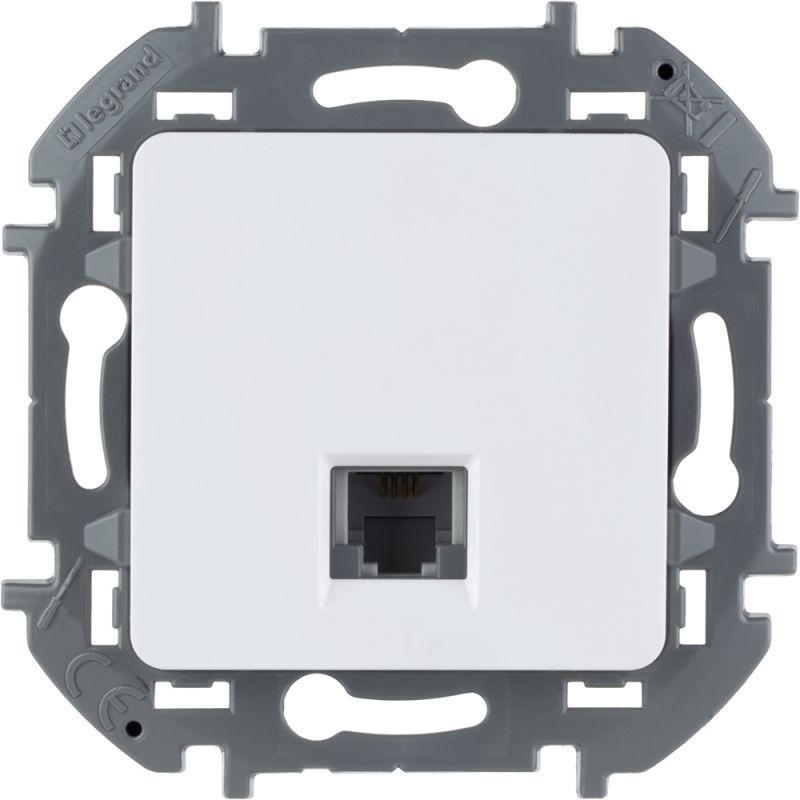 Механизм розетки телефонной RJ11 Inspiria бел. Leg 673820