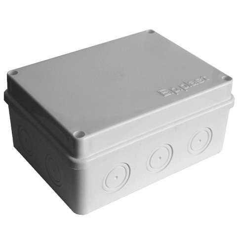 Коробка распределительная ОП 150х110х70мм IP54 10 выходов без гермовводов крышка на винтах сер. Epplast 215312