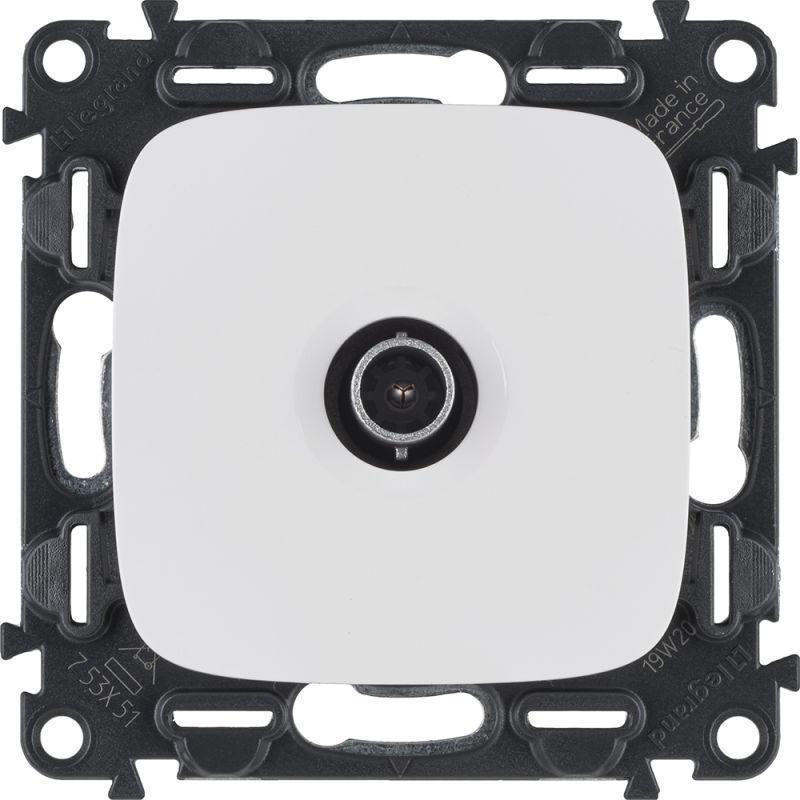 Механизм розетки TV с топологией звезда Valena Allure 1 выход 0-2400МГц с лиц. панелью бел. Leg 753751