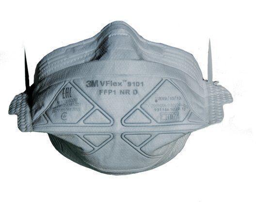 Полумаска противоаэрозольная фильтрующая складная класс защиты FFP1 NR D (4 ПДК) станд. размер 3М 7100102661