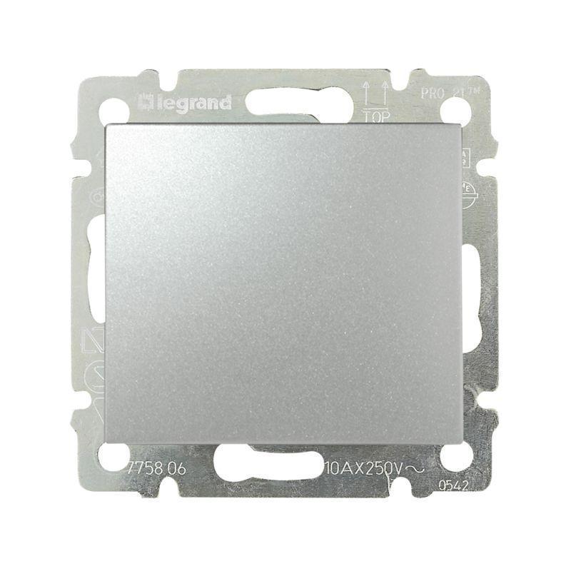 Механизм выключателя 1-кл. СП Valena 10А IP31 250В алюм. Leg 770101
