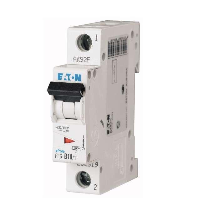 Выключатель автоматический модульный 1п C 10А 6кА PL6-C10/1 EATON 286531