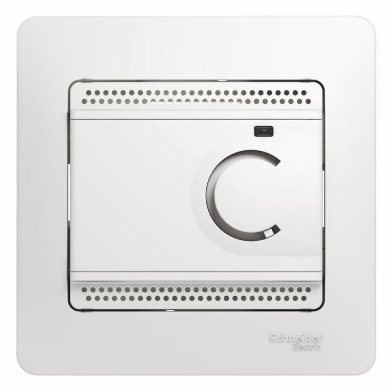 Термостат Glossa электронный для теплого пола с датчиком +5град.C +50град.C 10А в сборе бел. SchE GSL000138