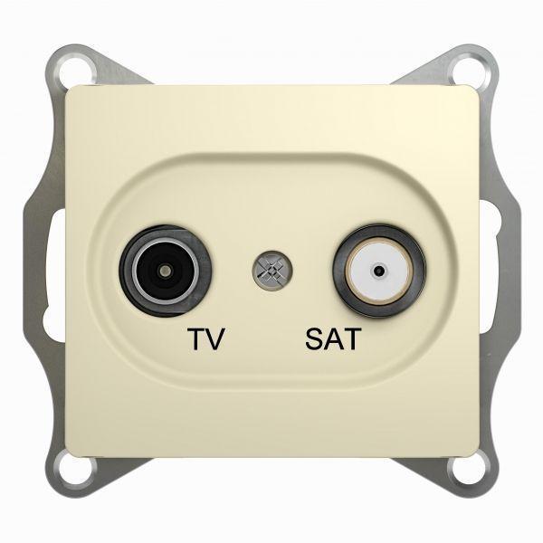 Механизм розетки TV-SAT 1-м СП Glossa 1DB беж. SchE GSL000297
