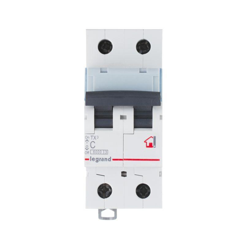Выключатель автоматический модульный 2п C 50А 6кА TX3 6000 2мод. 230/400В Leg 404047