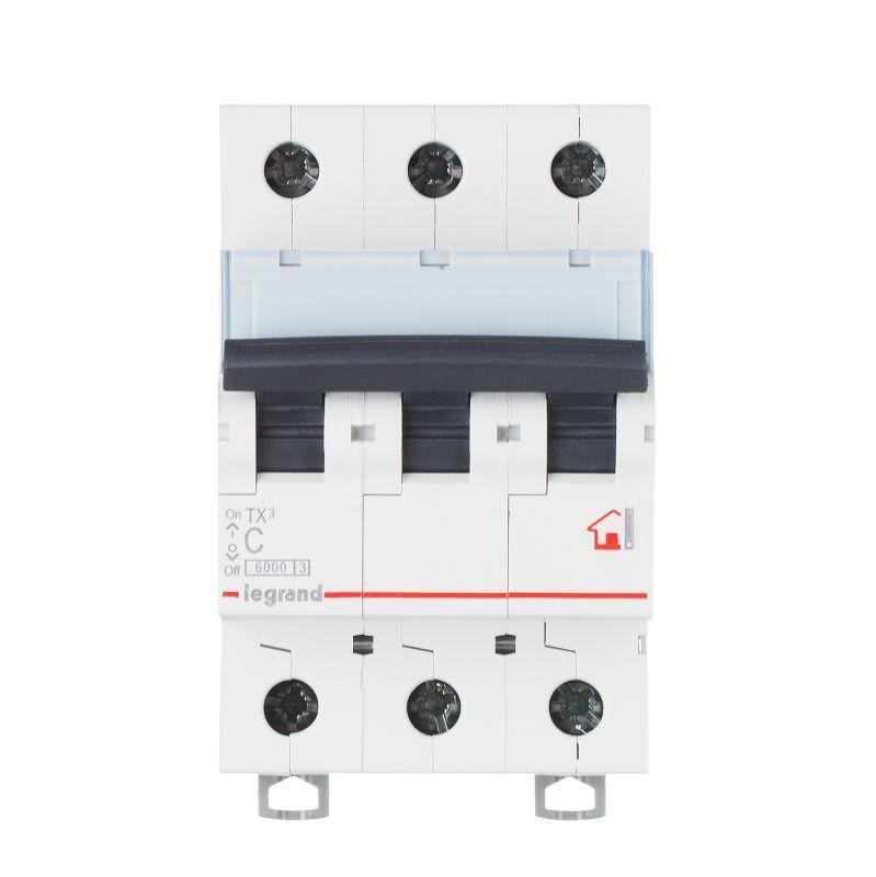 Выключатель автоматический модульный 3п C 40А 6кА TX3 6000 3мод. 400В Leg 404060