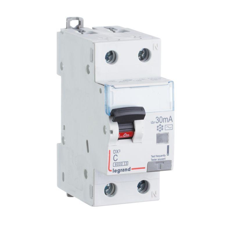 Выключатель автоматический дифференциального тока 2п (1P+N) C 32А 30мА тип AC 6кА DX3 2мод. Leg 411005