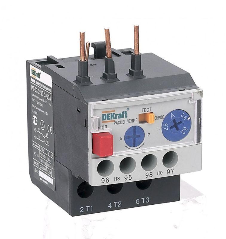 Реле электротепл. РТ-03 для конт. 09-18A 4.50-6.30А SchE 23112DEK