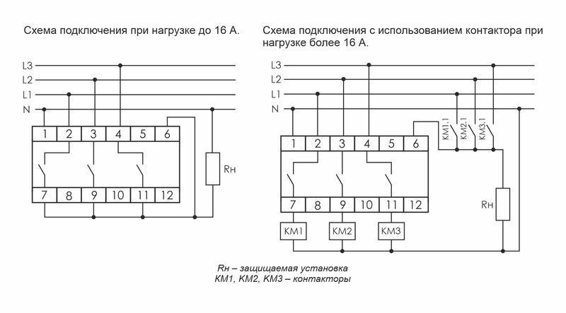 Переключатель фаз PF-431 (с приоритетной фазой; монтаж на DIN-рейке 35мм 3х400/230+N 3х16А IP20) F&F EA04.005.001