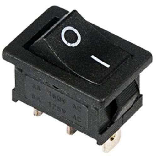 Выключатель клавишный 250В 6А (3с) ON-ON черн. Mini (RWB-202; SC-768) Rexant 36-2130
