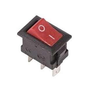 Выключатель клавишный 250В 3А (3с) ON-ON красн. Micro (RWB-102) Rexant 36-2031
