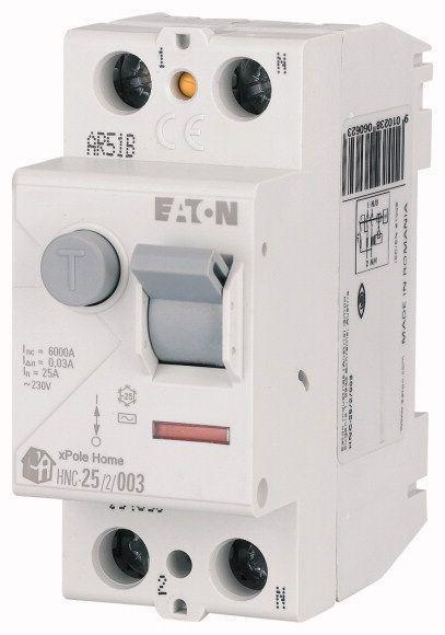 Выключатель дифференциального тока (УЗО) 4п 25А 30мА тип AC 6кА HNC-25/4/003 4мод. EATON 194693