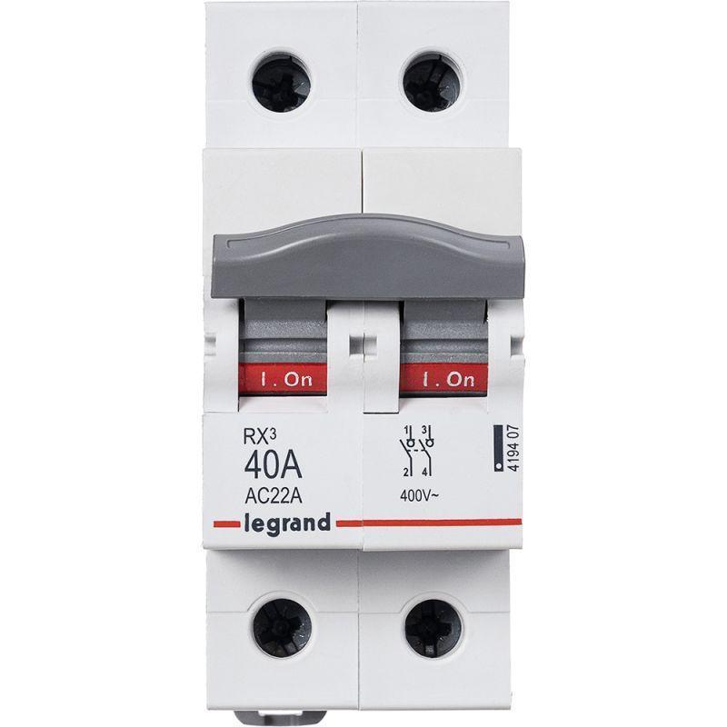 Выключатель-разъединитель 2п 40А RX3 Leg 419407