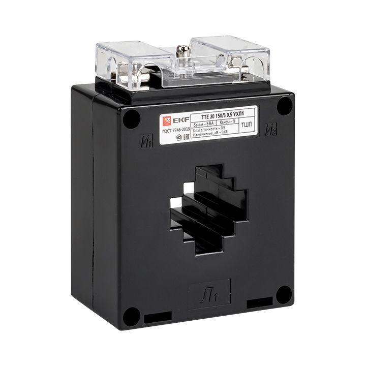 Трансформатор тока ТТЕ 30 250/5А кл. точн. 0.5S 5В.А EKF tte-30-250-0.5S/tc-30-250-0.5S