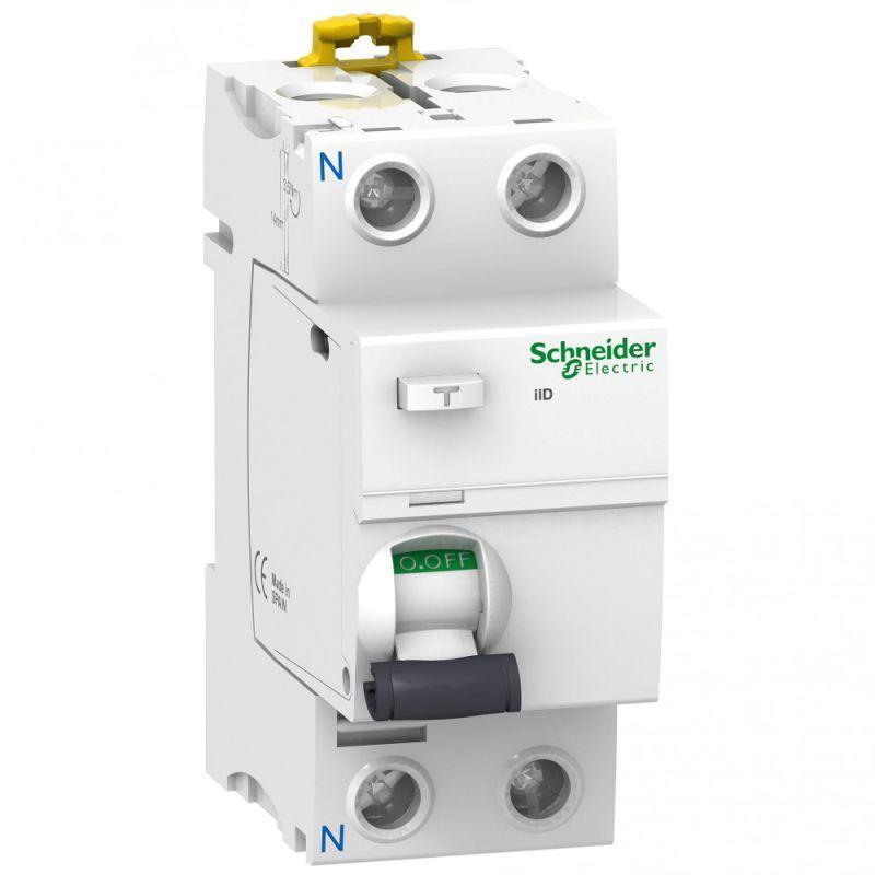 Выключатель дифференциального тока (УЗО) 2п 25А 30мА тип AC iID Acti9 SchE A9R41225