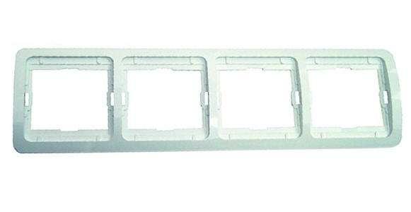 Рамка 4-м Mimoza горизонт. крем Makel 32039