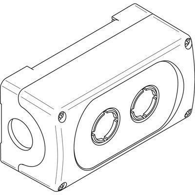 Корпус кнопочного поста MEP2-0 на 2 эл. ABB 1SFA611812R1000