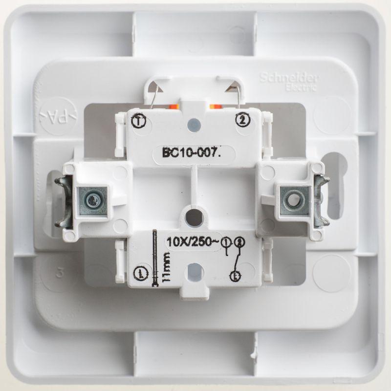 Переключатель 1-кл. СП Этюд 10А IP20 с подсветкой бел. SchE BC10-007B