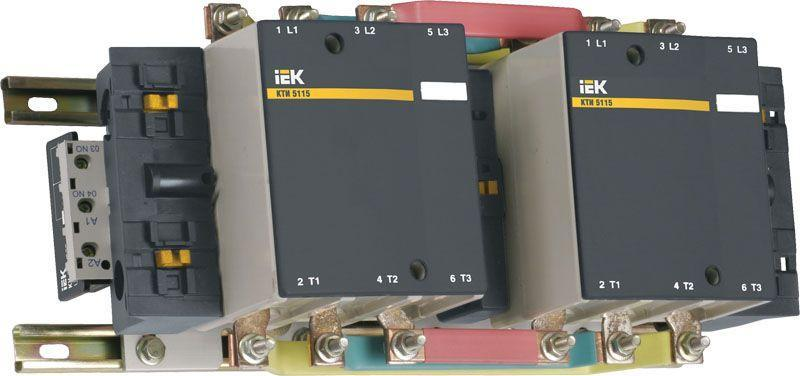 Контактор КТИ-51503 реверс 150А 230В/АС3 IEK KKT53-150-230-10