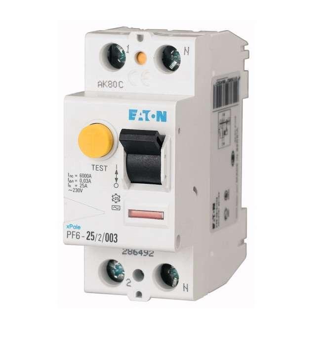 Выключатель дифференциального тока (УЗО) 2п 16А 30мА тип AC PF6-16/2/003 EATON 119429