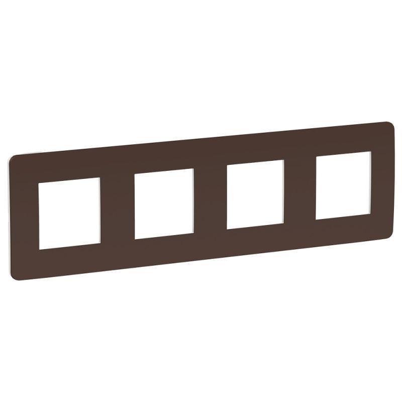 Рамка 4-м UNICA STUDIO шоколад/бел. SchE NU280816