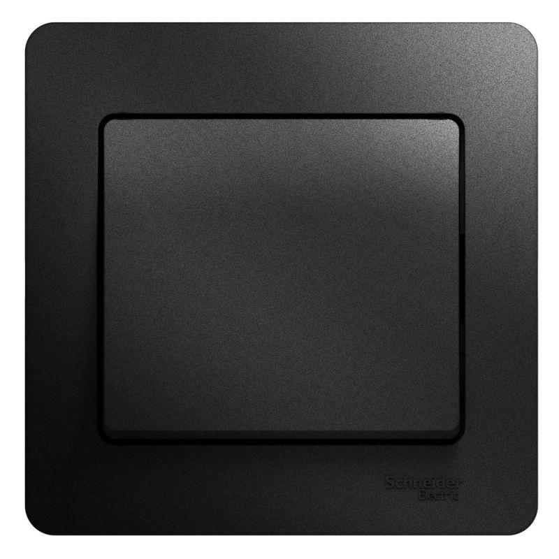 Выключатель 1-кл. СП Glossa 10А IP20 (сх. 1) 10AX в сборе антрацит SchE GSL000712