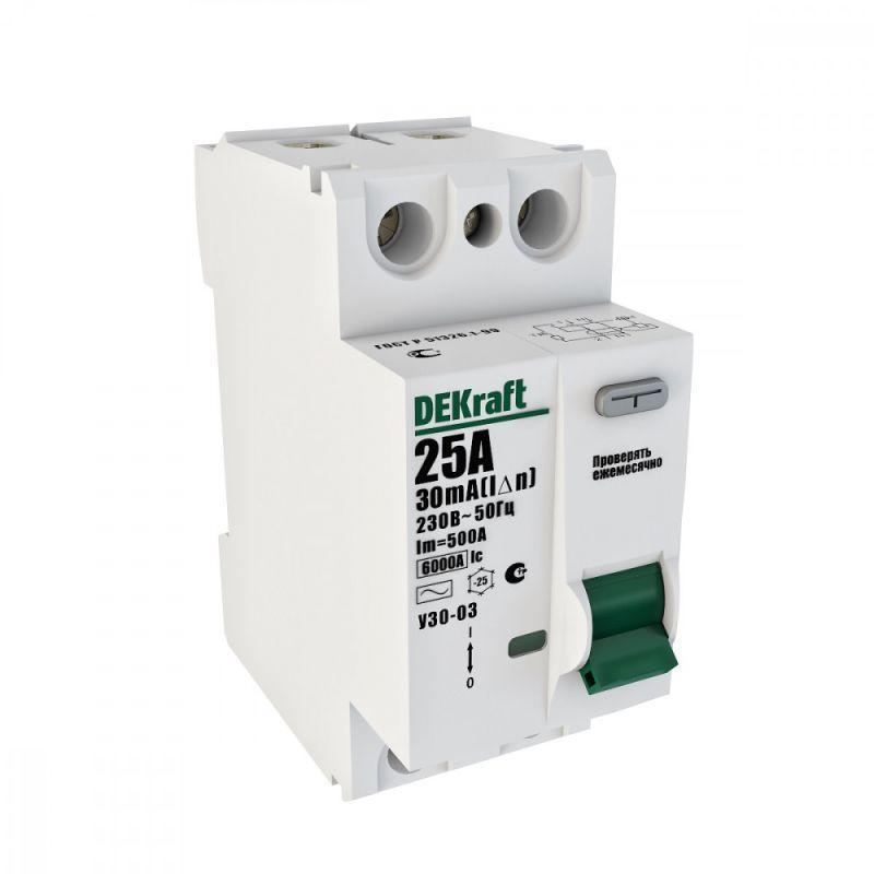 Выключатель дифференциального тока (УЗО) 2п 32А 30мА тип AC 6кА УЗО-03 SchE 14055DEK