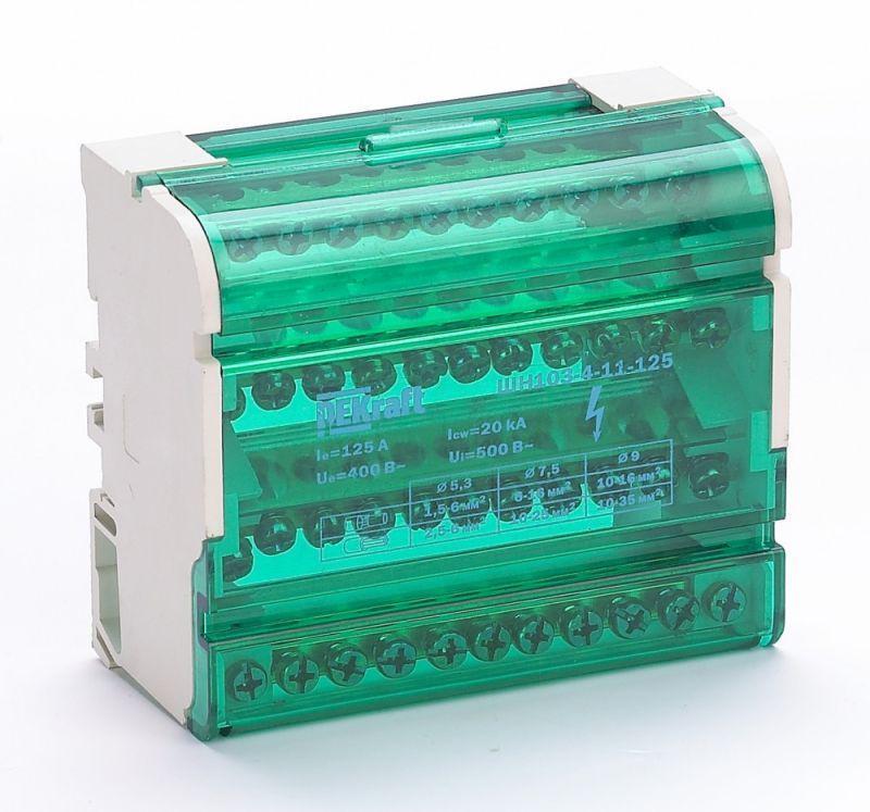 Кросс-модуль на DIN-рейку 4х11 групп 125А ШН-103 SchE 32018DEK