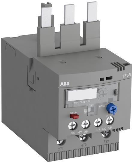 Реле перегрузки тепл. TF65-47 диапазон уставки 36.0-47.0А для контакторов AF40 AF52 AF65 класс перегрузки 10 ABB 1SAZ811201R1004