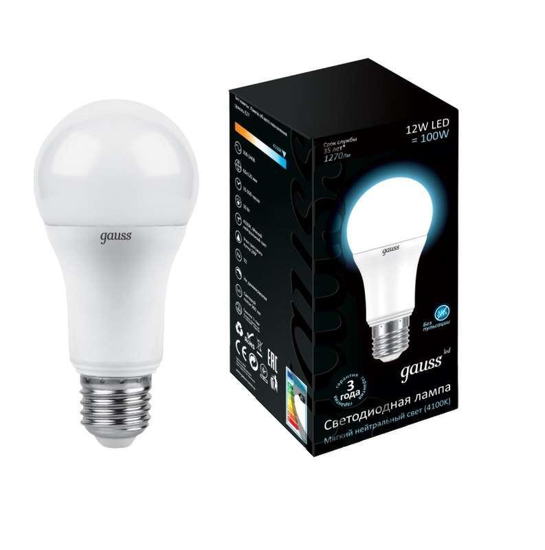 Лампа светодиодная Black Globe 12Вт 4100К бел. E27 1200лм 150-265В Gauss 102502212