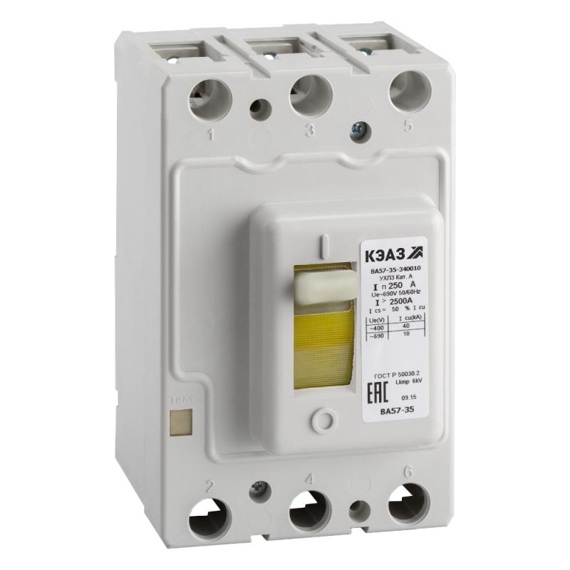 Выключатель автоматический 100А 1000Im ВА57-35-340010 УХЛ3 690В AC КЭАЗ 108566