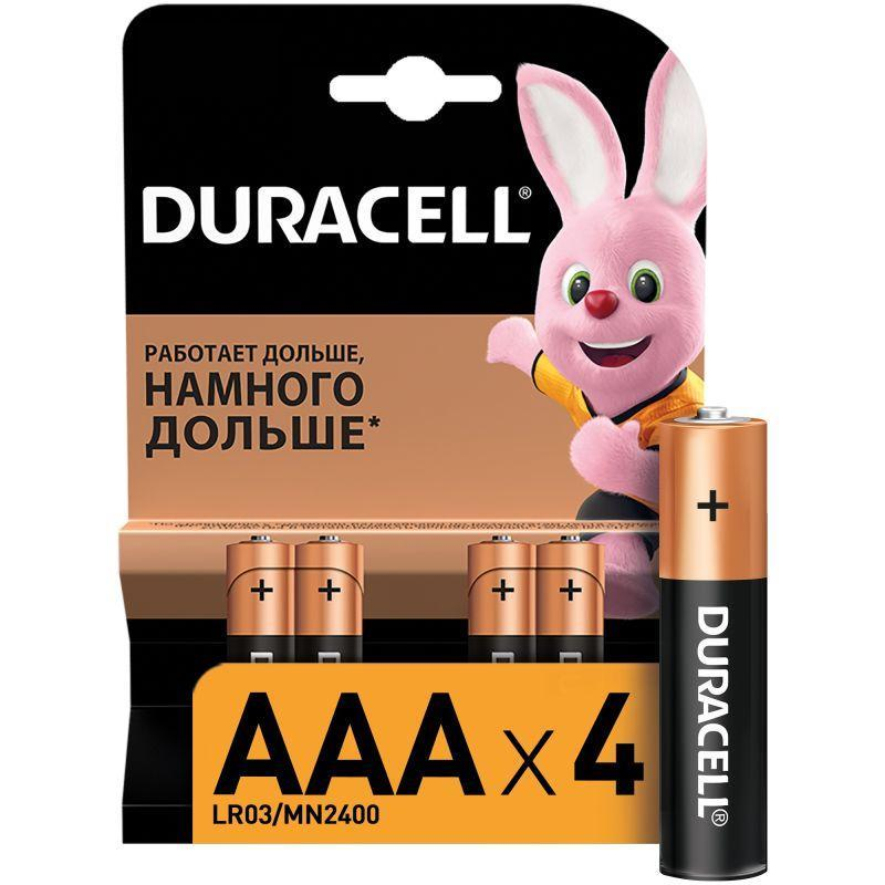 Элемент питания алкалиновый LR MN 2400/LR03 Basic BP-4 (блист.4шт) Duracell Б0014046/Б0026813