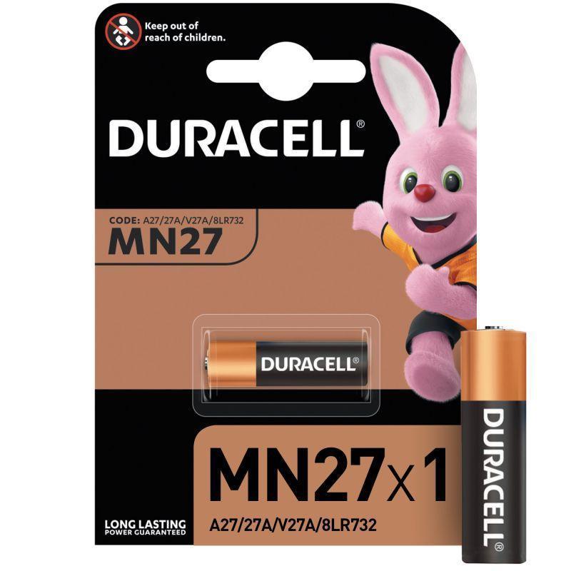 Элемент питания алкалиновый для пультов сигнализаций LR MN 27/A27 BP-1 (блист.1шт) Duracell A0000027