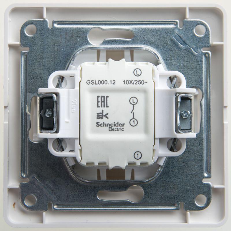 Выключатель 1-кл. СП Glossa 10А IP20 (сх. 1) 10AX в сборе перламутр. SchE GSL000612