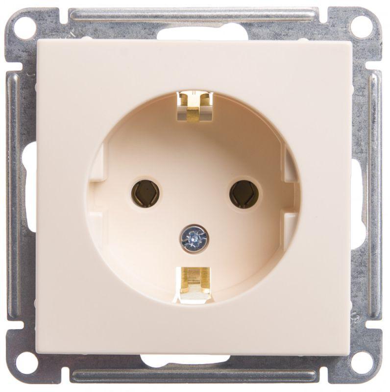 Механизм розетки 1-м СП W59 16А IP20 с заземл. без защ. шторок сл. кость SchE RS16-154-2-86
