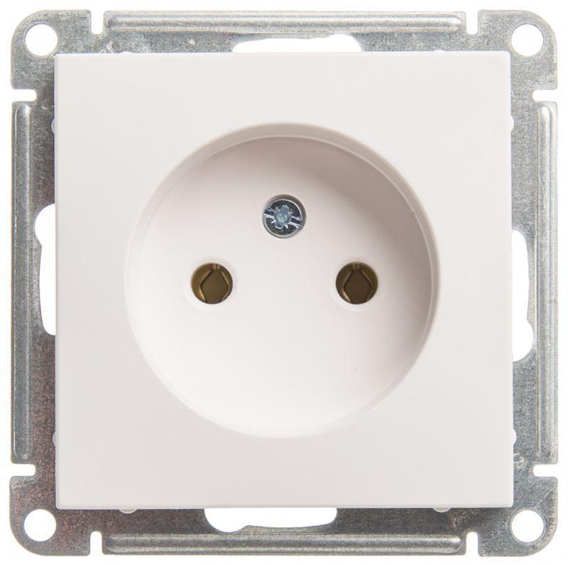 Механизм розетки 1-м СП W59 16А IP20 без заземл. без защ. шторок бел. SchE RS16-153-1-86