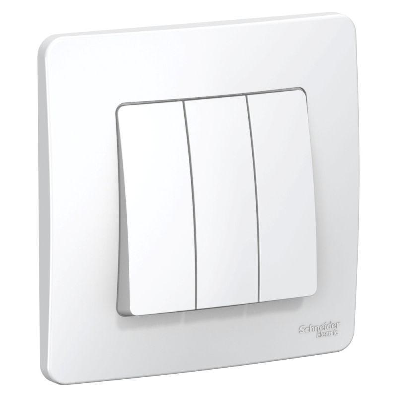 Выключатель 3-кл. СП Blanca 10А IP20 (сх. 1+1+1) 250В бел. SchE BLNVS100501