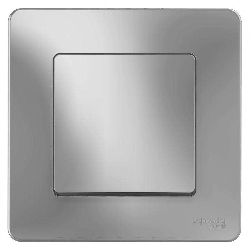 Переключатель 1-кл. СП Blanca 10А IP20 (сх. 6) 250В алюм. SchE BLNVS010603
