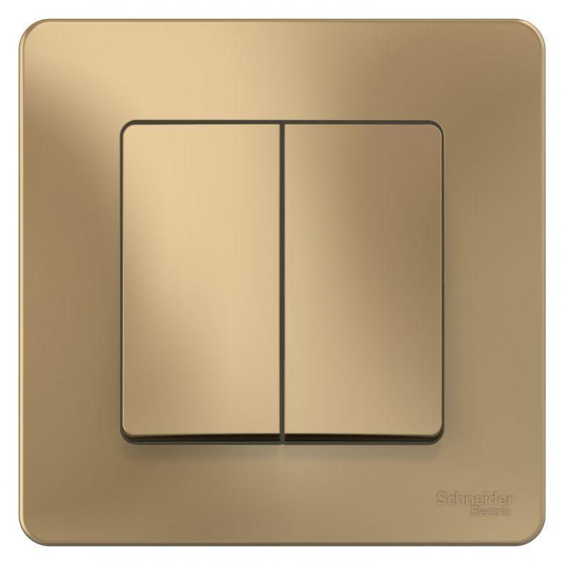 Выключатель 2-кл. СП Blanca 10А IP20 (сх. 5) 250В титан SchE BLNVS010504