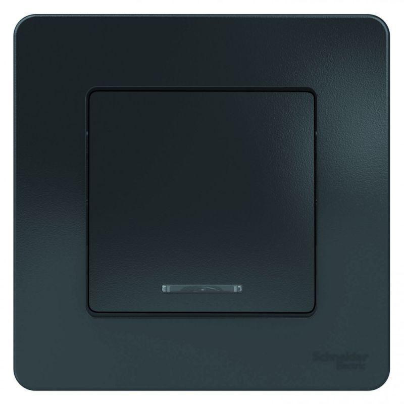 Выключатель 1-кл. СП Blanca 10А IP20 (сх. 1) 250В с подсветкой антрацит SchE BLNVS010116