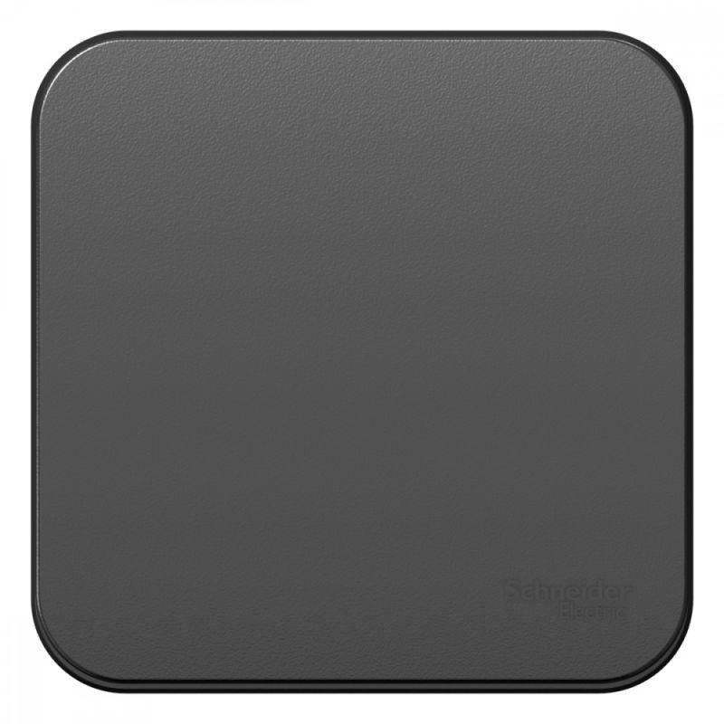 Выключатель 1-кл. ОП Blanca 10А IP20 (сх. 1) 250В с изолир. пластиной антрацит SchE BLNVA101016